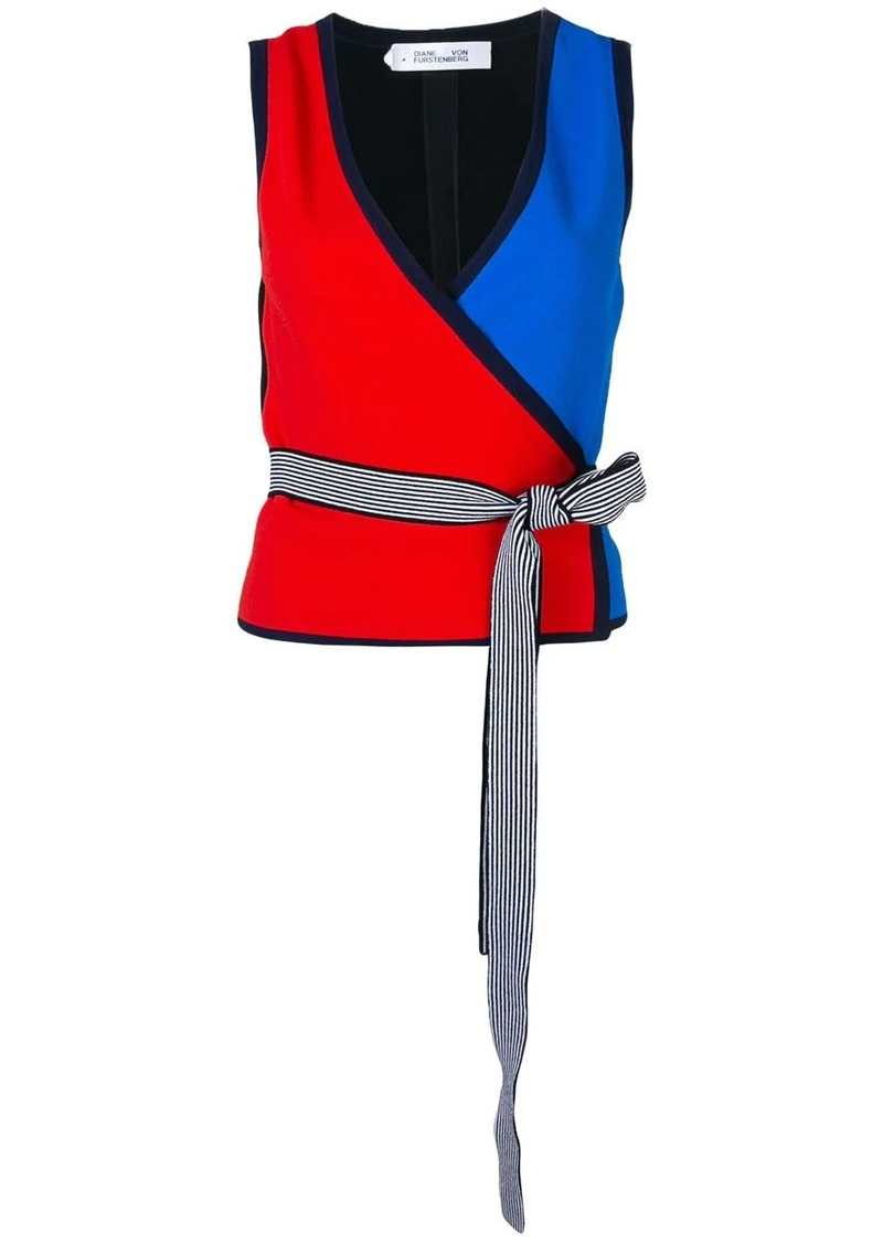 Diane Von Furstenberg colour-block sleeveless top