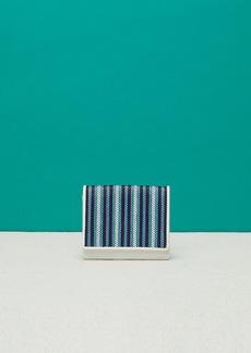Diane Von Furstenberg Small Flap Raffia Wallet