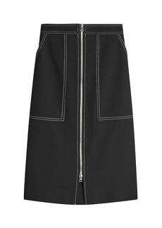 Diane Von Furstenberg Cotton Patch Pocket Zip Skirt