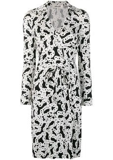 Diane Von Furstenberg crawling chain wrap dress