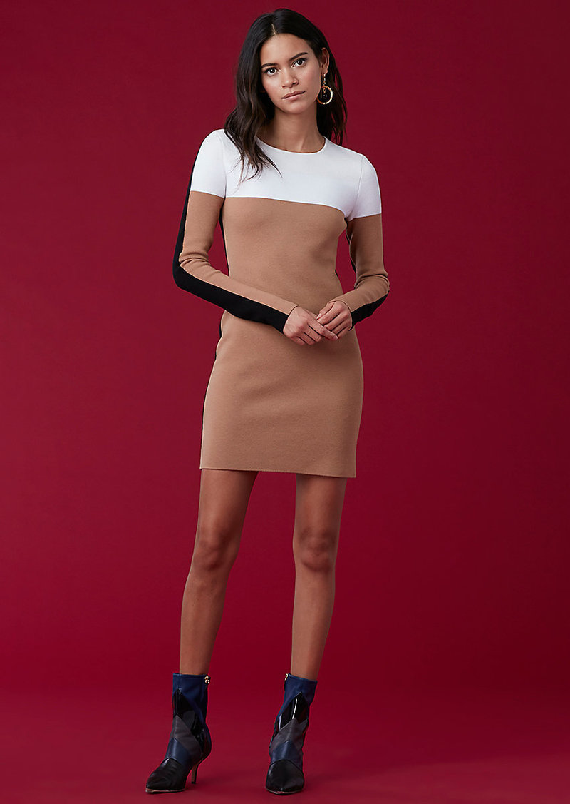 Diane Von Furstenberg Crewneck Knit Dress