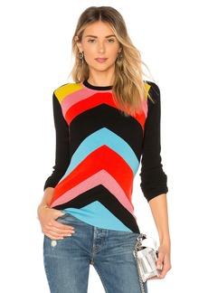 Diane Von Furstenberg Crewneck Rainbow Sweater