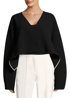 Diane Von Furstenberg Crop Button Jacket