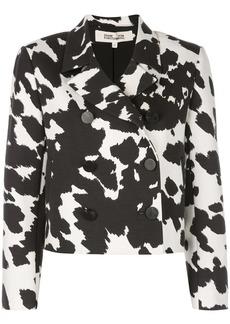 Diane Von Furstenberg cropped double breasted jacket