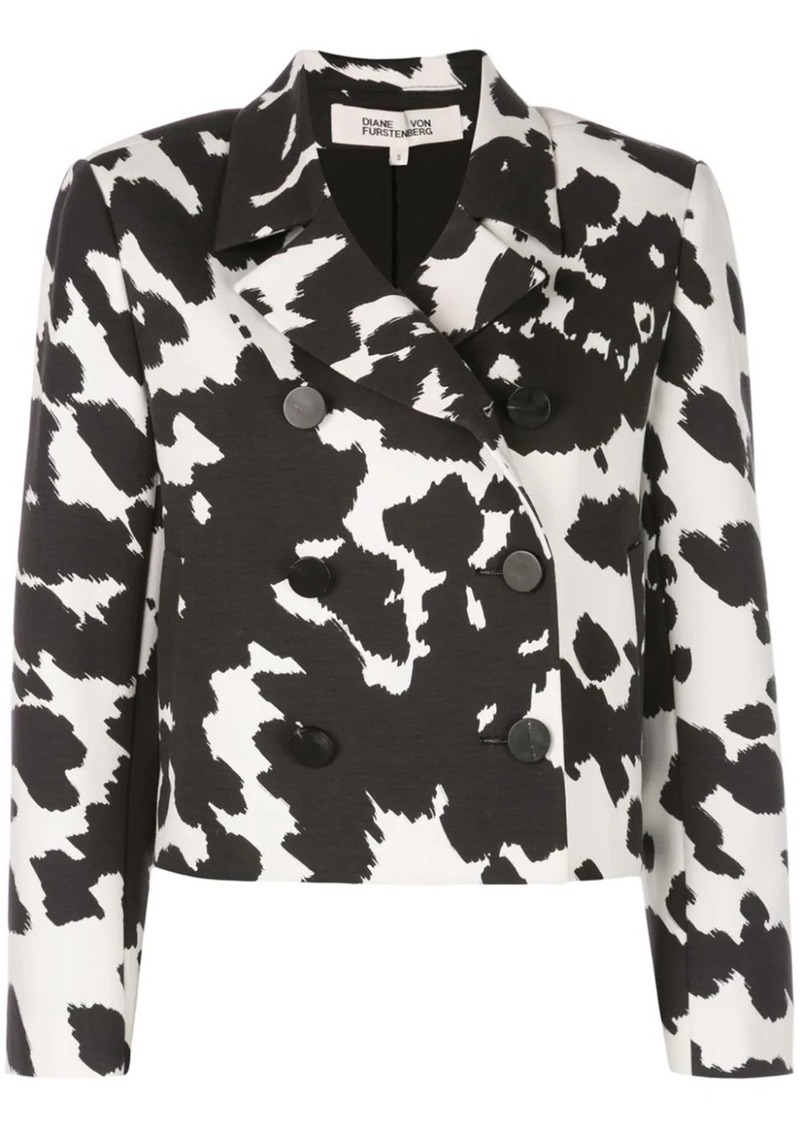 Diane Von Furstenberg cropped double breasted jacket