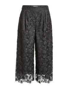Diane Von Furstenberg Cropped Lace Pants