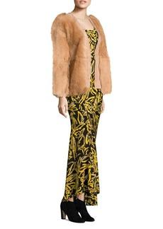 Diane Von Furstenberg Cropped Wrap Shearling Jacket