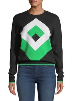 Diane Von Furstenberg Cube Graphic Wool Pullover Sweater
