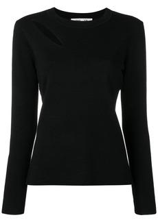 Diane Von Furstenberg cut-out detail jumper