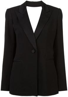 Diane Von Furstenberg cut out tuxedo blazer