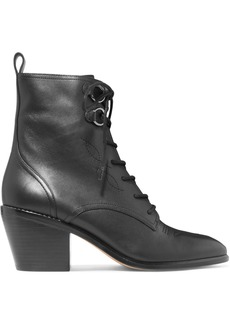 Diane Von Furstenberg Dakota Lace-up Leather Ankle Boots