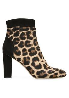 Diane Von Furstenberg Daphne 2 Calf Hair Leather Ankle Boots
