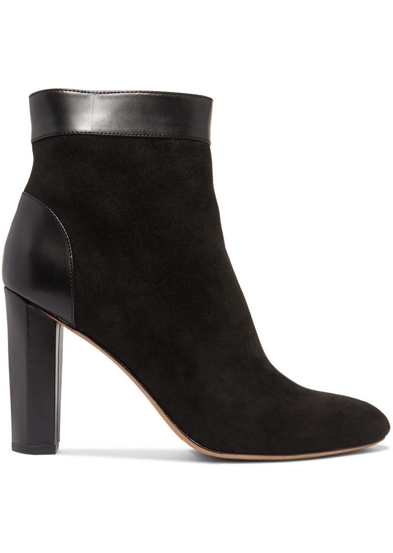 Diane Von Furstenberg Daphne Leather-trimmed Suede Ankle Boots