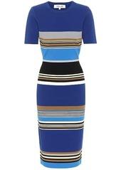 Diane Von Furstenberg Dasha striped knit midi dress