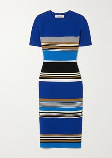 Diane Von Furstenberg Dasha Striped Knitted Dress
