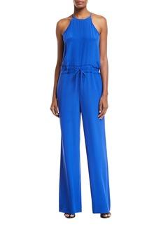 Diane Von Furstenberg Davin Silk-Blend Drawstring Jumpsuit
