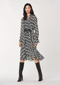 Diane Von Furstenberg Debra Crinkle Chiffon Midi Skirt