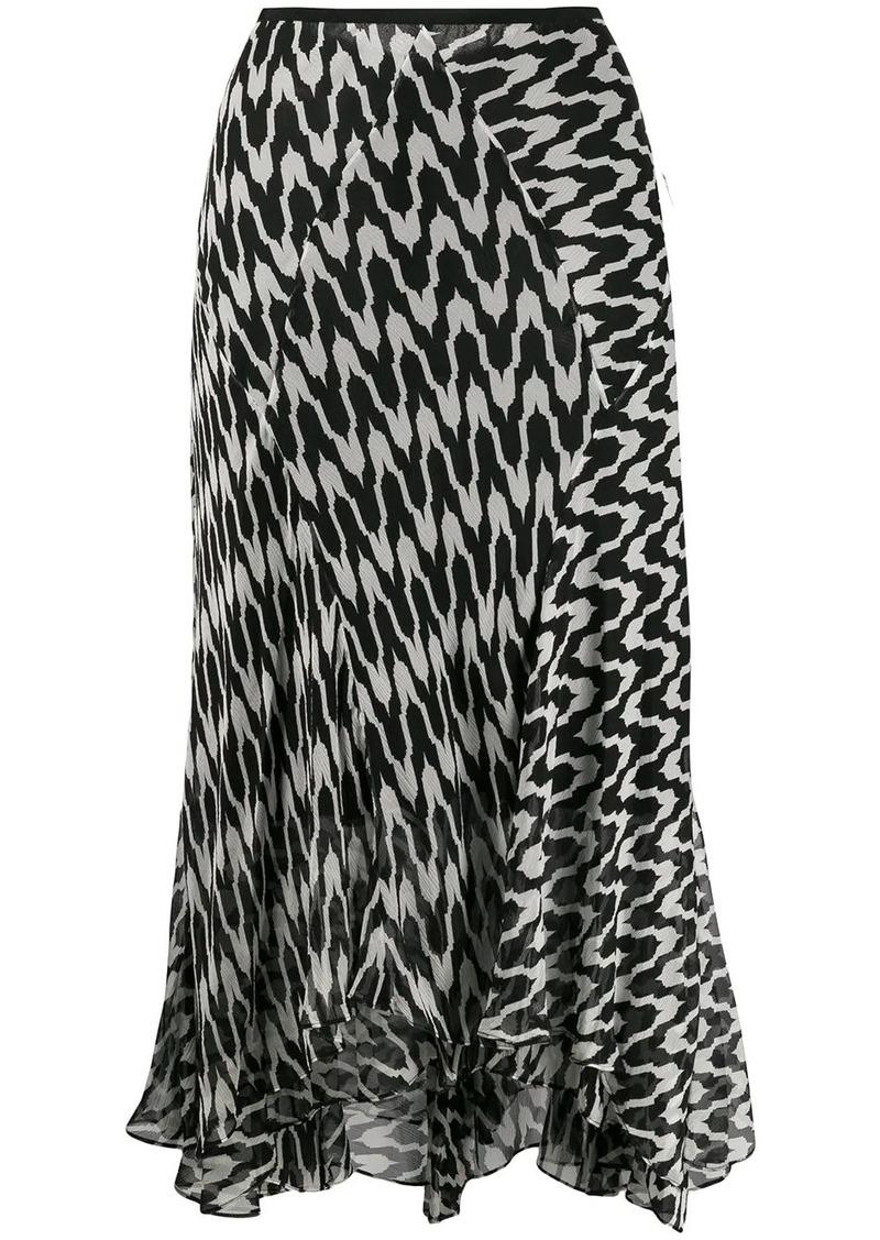 Diane Von Furstenberg Debra patterned skirt