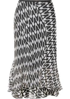 Diane Von Furstenberg Debra Printed Silk-crepon Midi Skirt