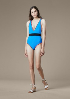 Diane Von Furstenberg Deep V-Neck One Piece