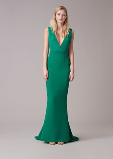 Deep V Tailored Gown