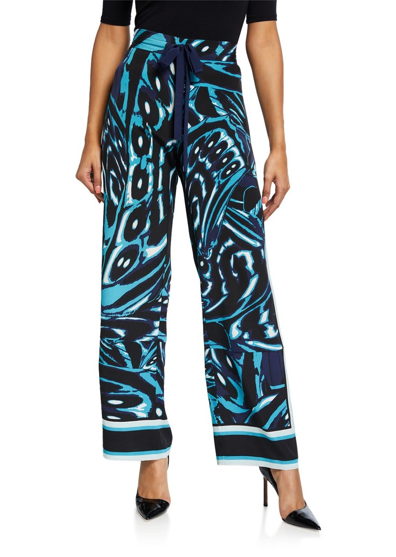 Diane Von Furstenberg Denise Printed Silk Pull-On Pants