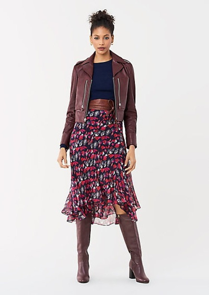 Diane Von Furstenberg Denzel Leather Moto Jacket