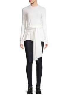 Diane Von Furstenberg Devin Merino Wool Tie-Waist Sweater