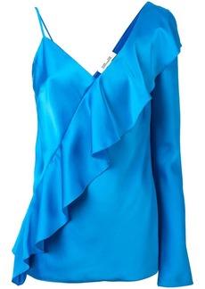 Diane Von Furstenberg diagonal ruffle blouse