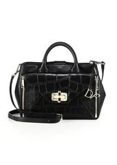 Diane von Furstenberg 440 Gallery Secret Agent Crocodile-Embossed Leather Satchel