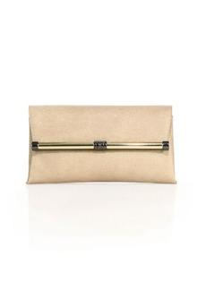 Diane von Furstenberg 440 Metallic Embossed Leather Envelope Clutch