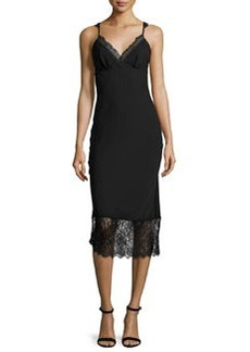 Diane von Furstenberg Margarit Lace-Trim Slip Dress