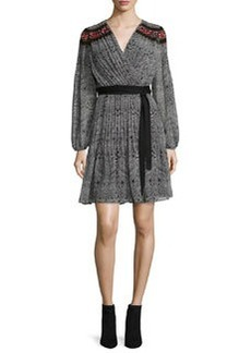 Diane von Furstenberg Bianka Long-Sleeve Wrap Dress