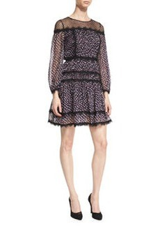 Diane von Furstenberg Jamie Contrast-Lace Silk Dress