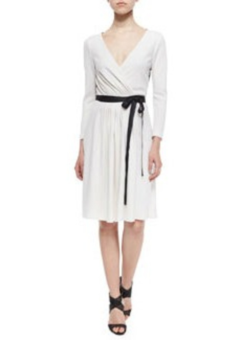 Diane von Furstenberg Seduction Long-Sleeve Lace-Trim Wrap Dress
