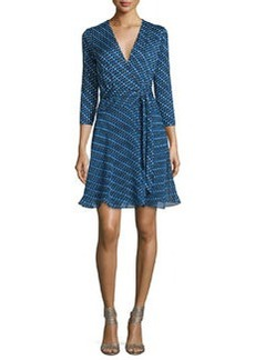 Diane von Furstenberg Irina Diagonal Dots Silk Wrap Dress
