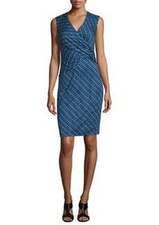 Diane von Furstenberg Leora Silk Diagonal Dots Sheath Dress