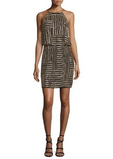 Diane von Furstenberg Samala Silk Embroidered Blouson Dress