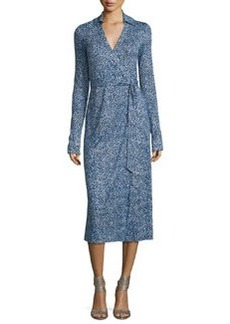 Diane von Furstenberg Cybil Printed Silk Jersey Wrap Dress