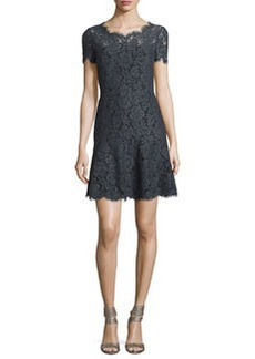 Diane von Furstenberg Fifi Floral Lace Fit & Flare Dress