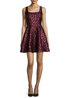 Diane von Furstenberg Sleeveless Minnie Midnight Kiss A-Line Dress