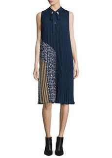 Diane von Furstenberg Anabel Sleeveless Pleated Shift Dress