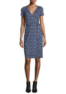 Diane von Furstenberg New Julian Two Mini Ribbon Weave Wrap Dress