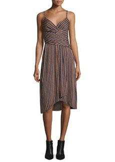Diane von Furstenberg Saige Striped Stretch Silk Dress