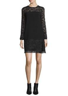Diane von Furstenberg Lavana Long-Sleeve Lace Shift Dress
