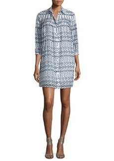 Diane von Furstenberg Rylie Diamond Dots Shirtdress