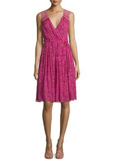 Diane von Furstenberg Bali Sleeveless Shalamar Trellis Silk Wrap Dress
