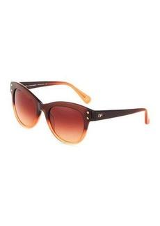 Diane von Furstenberg Adele Two-Tone Acetate Cat-Eye Sunglasses