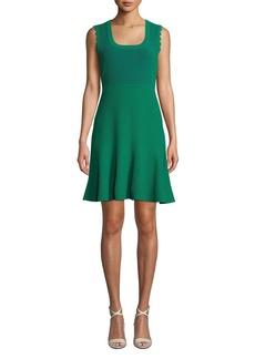 Diane von Furstenberg Adi Ribbed Sleeveless Short Dress