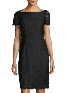 Diane von Furstenberg Ainsley Cap-Sleeve Lace Sheath Dress